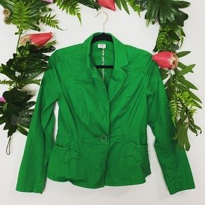 CAbi green button jacket ✨size small